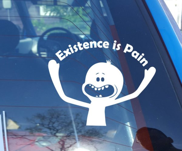 Mr. Meeseeks Window Decal Just Wants to Die