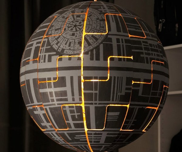 Turn an IKEA Lamp into an Exploding Death Star