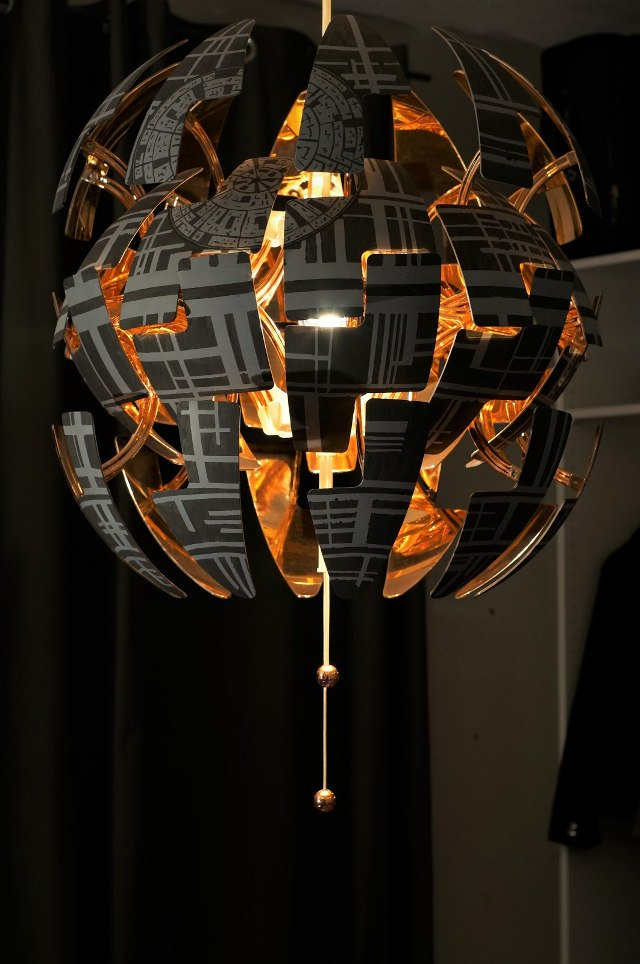 Turn an ikea lamp into an exploding death star technabob - Luminaire suspension ikea ...