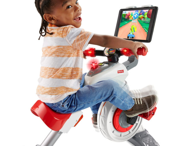 Fisher-Price Exercise Bike and Tablet Holder: Tykes on Bikes