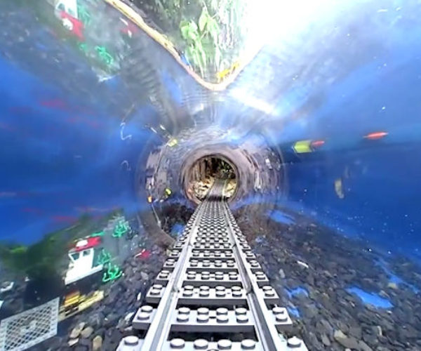 Watch an Underwater LEGO Train Swim with the Fishes