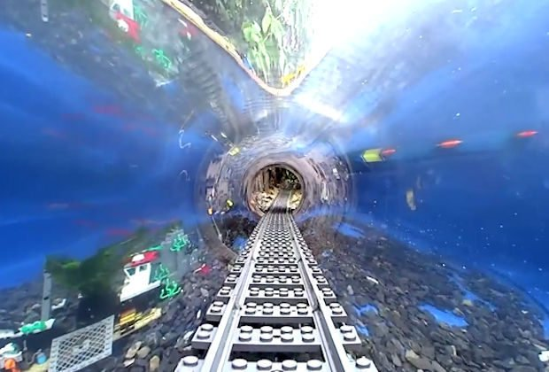 real underwater train. Watch An Underwater LEGO Train Swim With The Fishes Real .