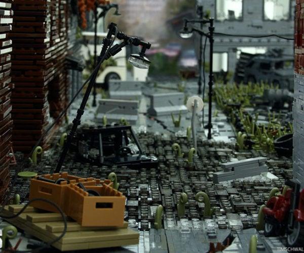 The Last of US LEGO Diorama: The Zombrick Apocalypse