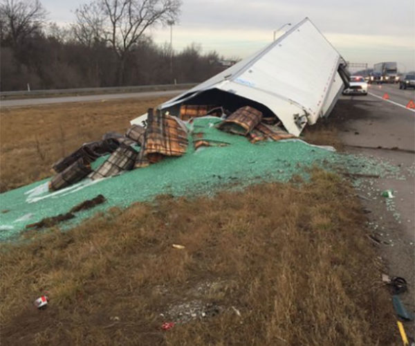 Truck Crashes, Spilling 38,000 Pounds of Marbles, No Cartoon-like Falls Ensue