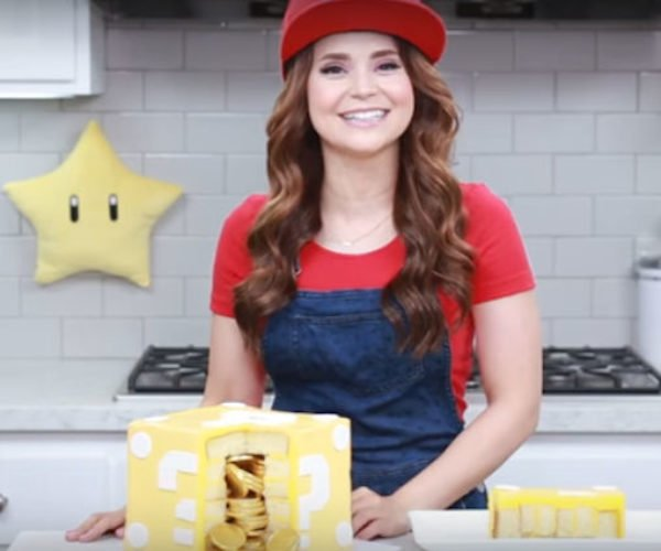 Make a Mario Block Cake Filled with Edible Coins