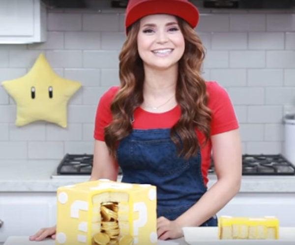 Make a Mario Block Cake Filled with Edible Coins
