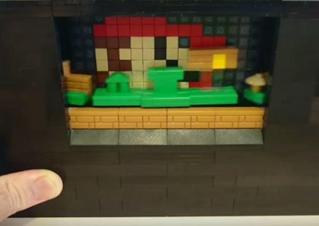 Actual Side-Scrolling LEGO Super Mario Bros. Diorama - Technabob