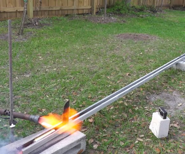 Watch a 1,000° Red Hot Rocket Knife Slice Through Stuff