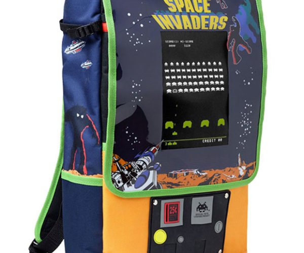 Space Invaders Backpack: Push Start to Carry