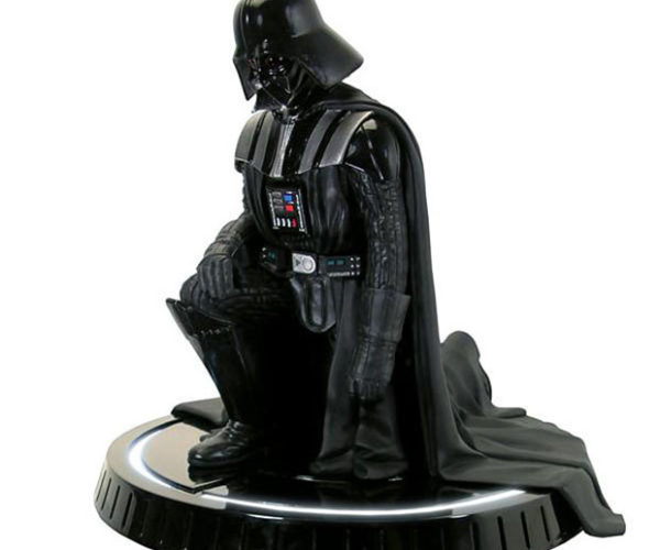 Darth Vader Statue Kneels Before His Master