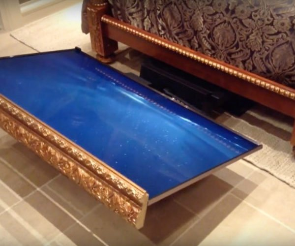 This Under-the-bed Television Lift Lets You Put Your TV to Rest
