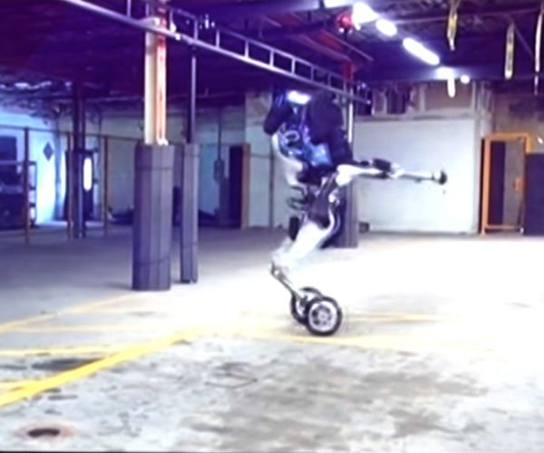 Video Surfaces of Boston Dynamics' Handle 2-Wheeled Robot