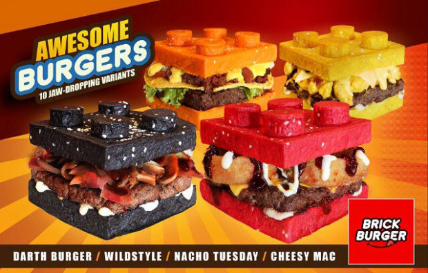 Brick Burgers Have LEGO Buns