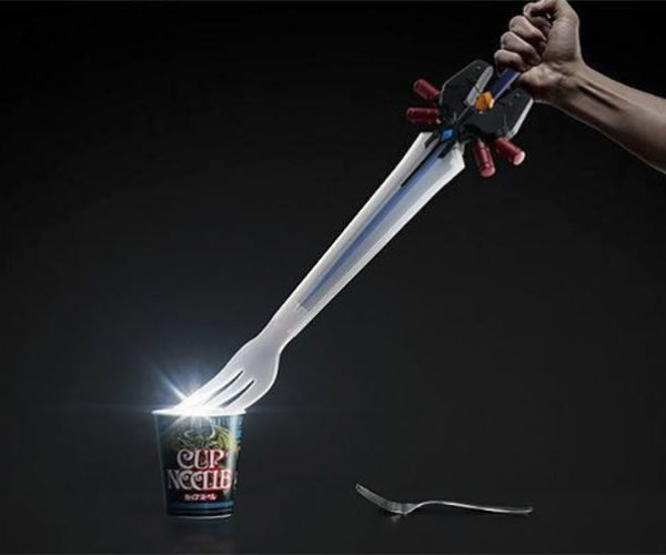 Who Doesn't Want to Eat Noodles with a Giant Sword Fork?