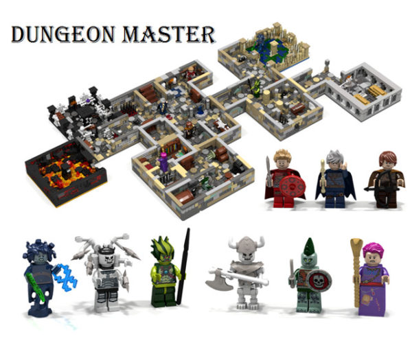 Dungeon Master LEGO Set: Dungeons and Dragons and Minifigs