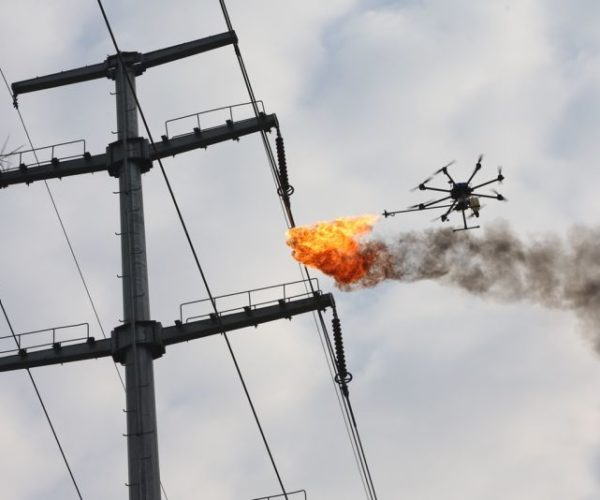 This Fire-Spraying Drone Is Not a Weapon