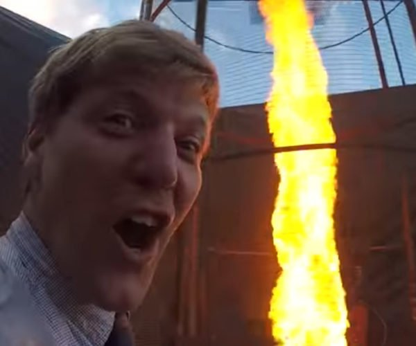 Colin Furze Lights Fireworks with a Giant Fire Tornado: Just Another Day