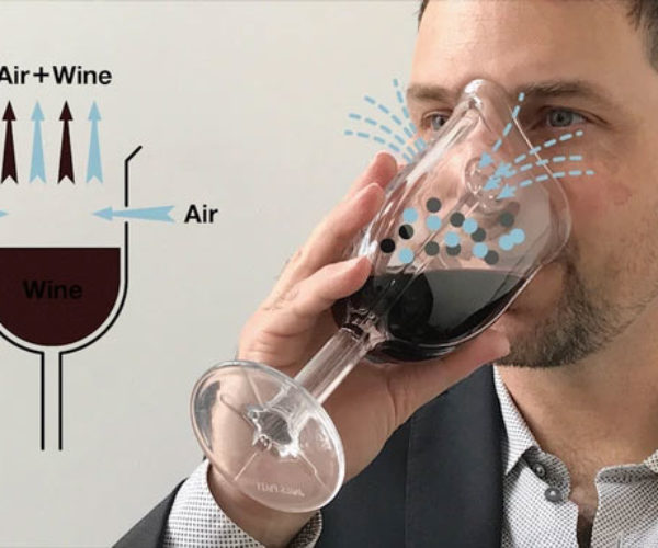 Wine Glass Mask Gives You Better Sniffs