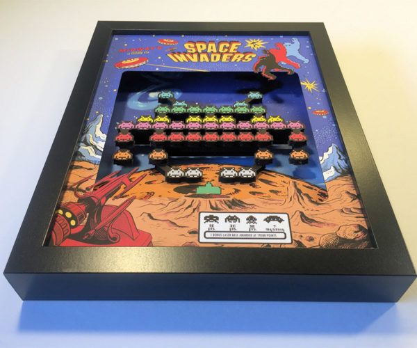 These Arcade Game Shadow Boxes are Simply Awesome