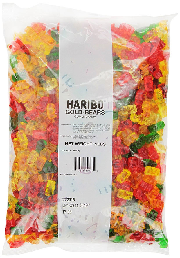 Has 5 Pound Bags Of Gummy Bears For 10 Bucks