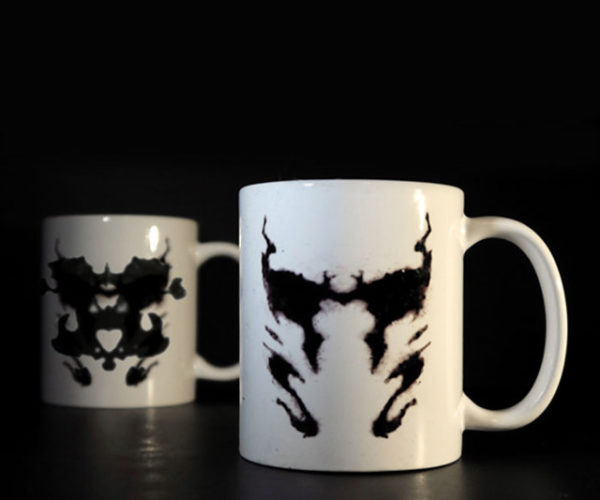 Rorschach Inkblot Coffee Mug: What Do You See?