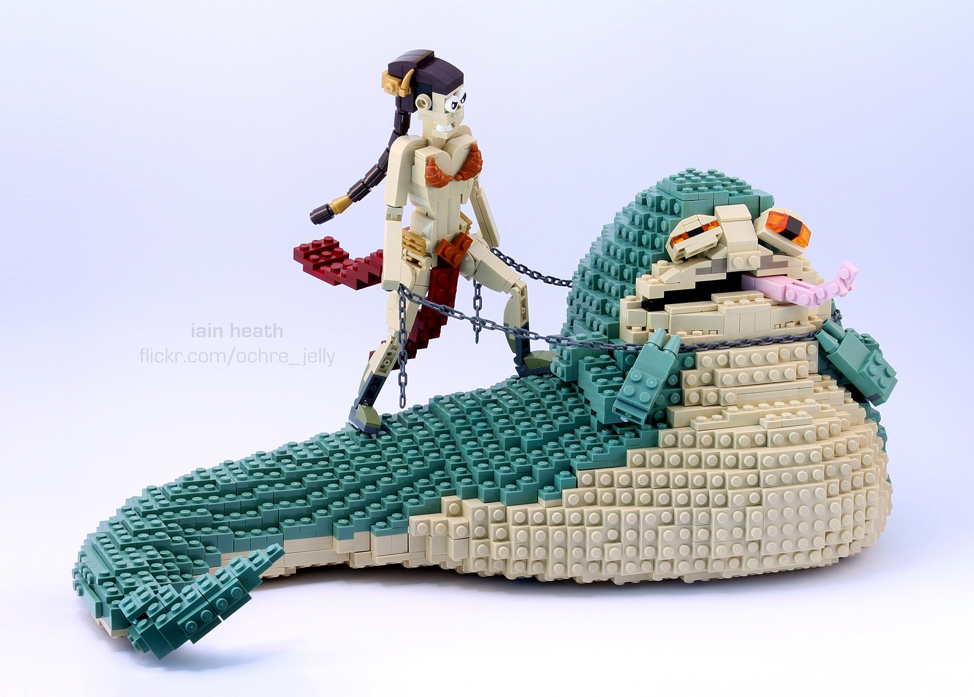 Leia vs. Jabba in LEGO, Whoa. - Technabob Jabba The Hutt And Leia