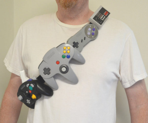 Nintendo Bandolier Holds Arsenal of Classic Controllers