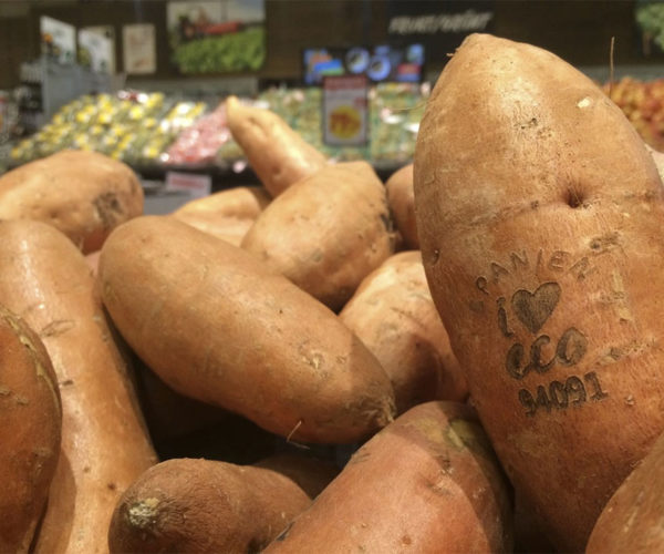 Swedish Supermarket Tattoos Labels on Produce with a Laser