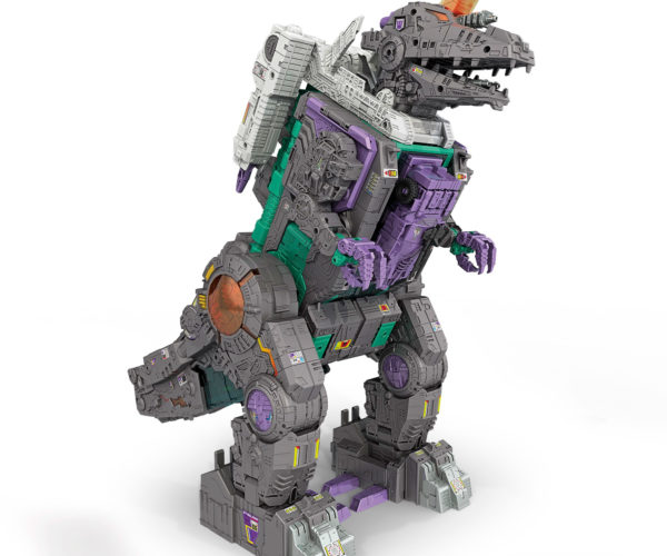 Gigantic Transformers Trypticon T-Rex Eats Other Transformers for Dinner