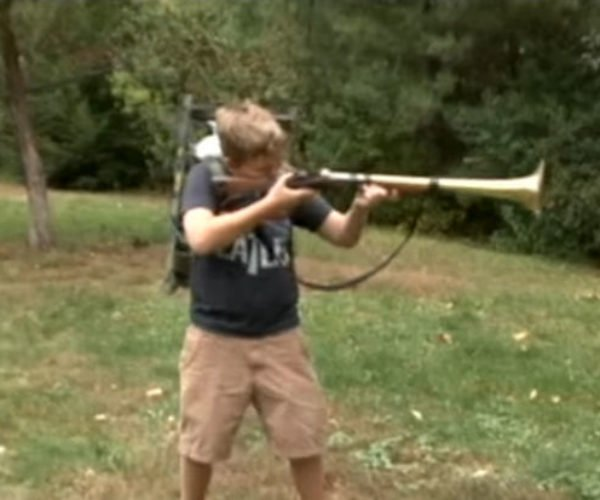 Father and Son Build Hilariously Annoying Trombone Rifle