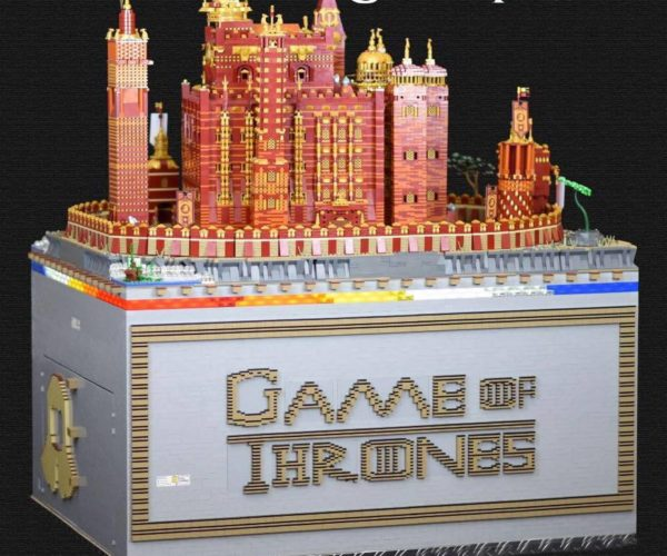 Motorized LEGO Game of Thrones Red Keep Sculpture