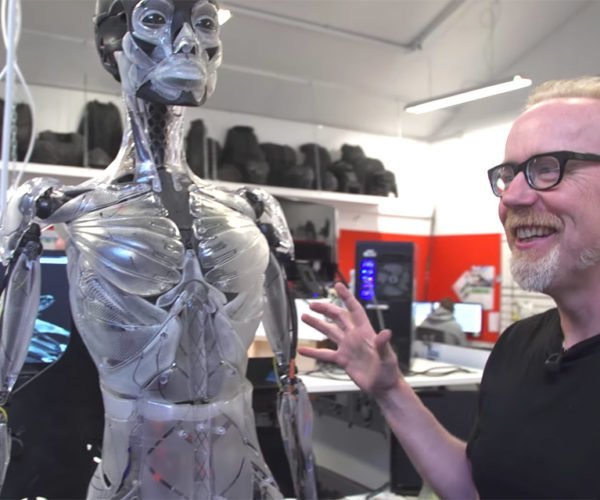 Adam Savage Ogles Ghost in the Shell's Incredible Robot Skeleton