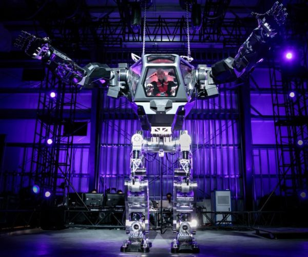 Jeff Bezos Tests out Gigantic Robot Suit