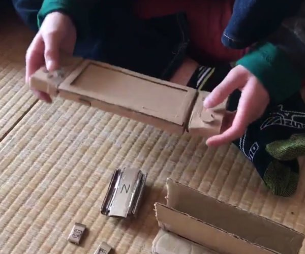 Kid Makes a Cardboard Nintendo Switch