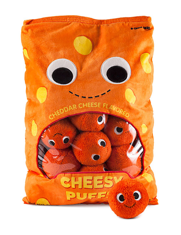 Cheesy Puff Plushes Won't Stain Your Fingers - Technabob