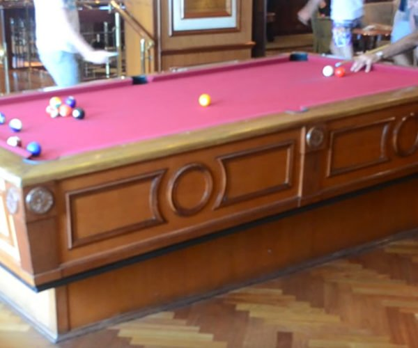 Cruise Ships Self-Leveling Pool Tables Counteract The Motion of the Ocean