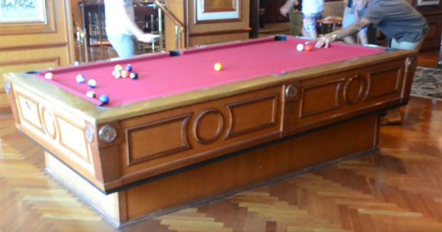 Cruise Ships Self-Leveling Pool Tables Counteract The