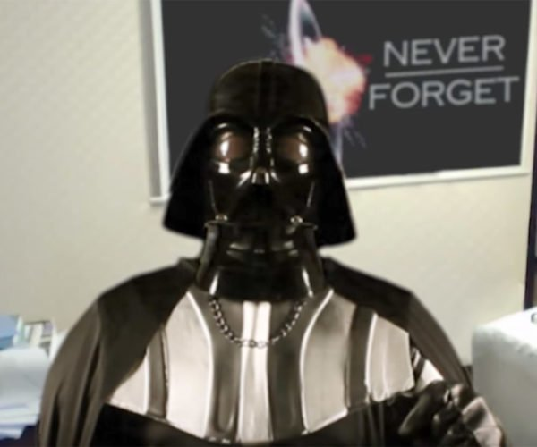 Darth Vader Interrupted During Important Video Call