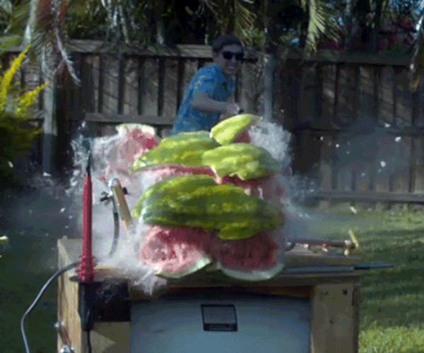 What Happens When You Pump 20,000 Volts into a Watermelon?