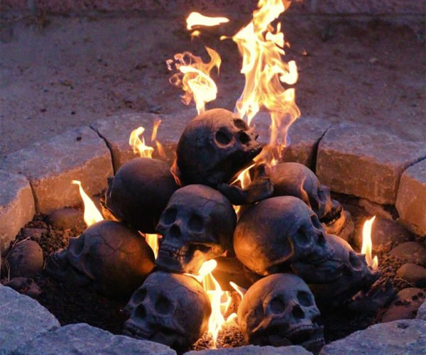 Skull Fireplace Logs: S'mores, Anyone?