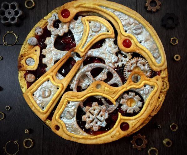 Steampunk Clockwork Cherry Pie is Gear-o-licious