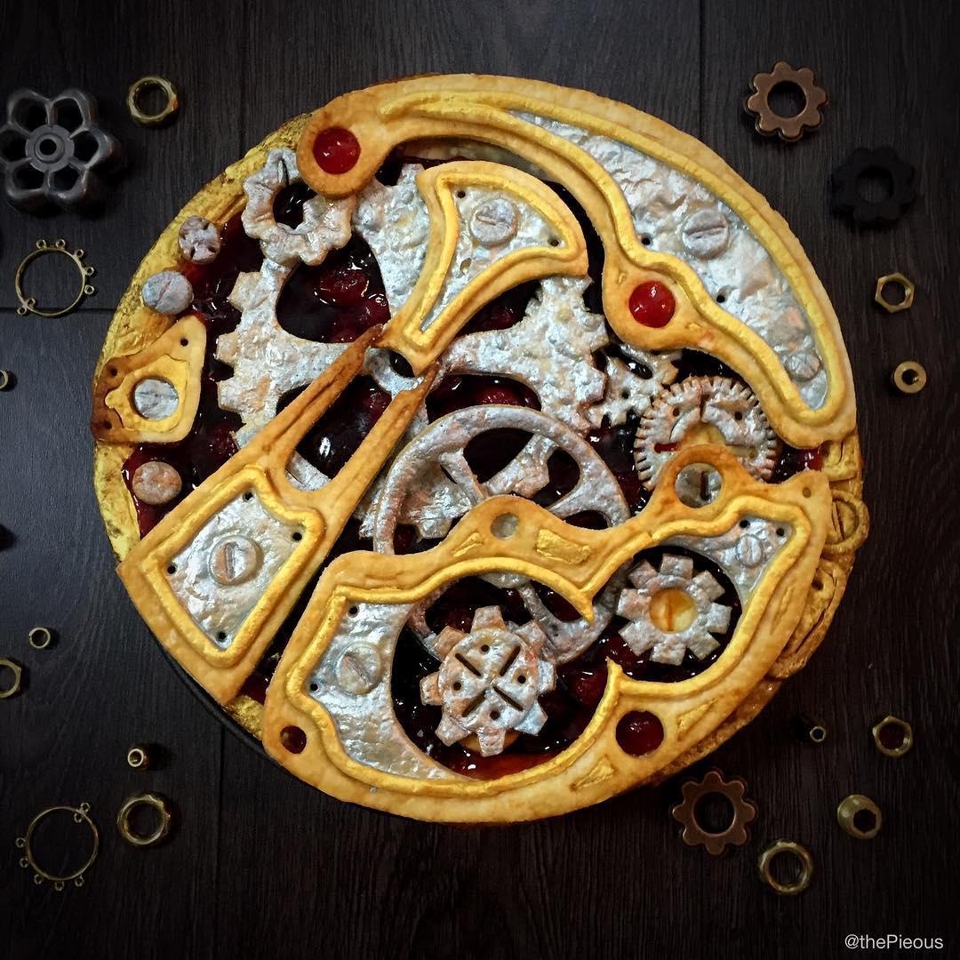 steampunk clockwork cherry pie is gear o licious technabob