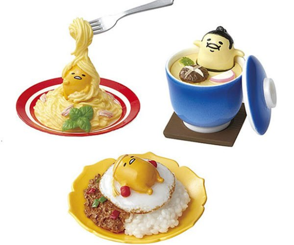 Gudetama Lazy Egg Figurines Lounge on Your Lunch