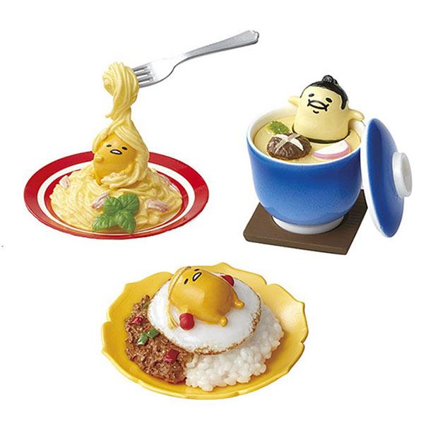 Gudetama Lazy Egg Figurines Lounge On Your Lunch Technabob