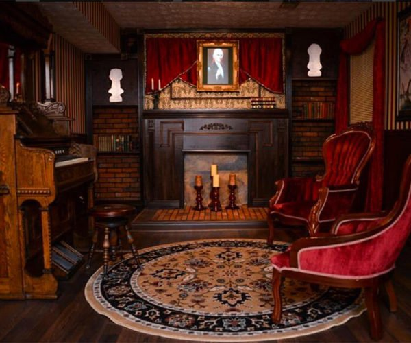 Couple Turns Basement Into Disney's Haunted Mansion