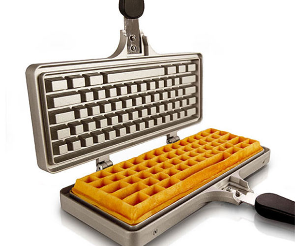 Keyboard Waffle Iron Cooks The Best Type of Breakfast