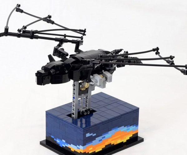 LEGO Kinetic Bat Model Flaps Its Wings