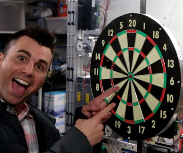 Auto-tracking Dartboard Makes Everyone a Pro