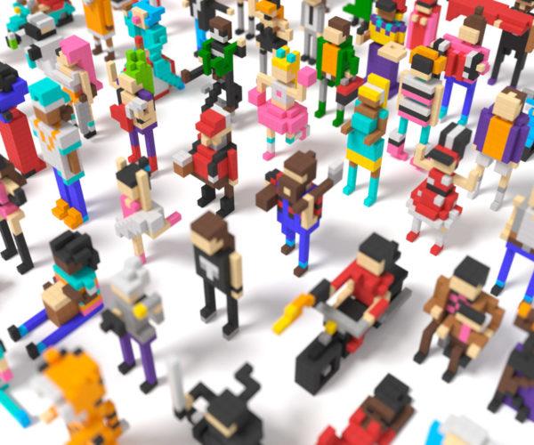 PIXIO Magnetic Construction Blocks Let You Build Colorful Voxel Art