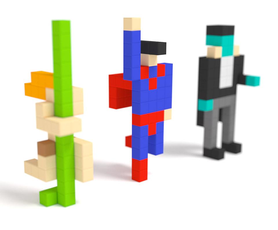 PIXIO Magnetic Construction Blocks Let You Build Colorful ...